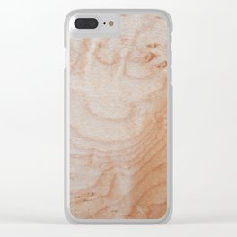 Unique eye maple wood design Clear iPhone Case