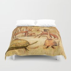 The Tortoise and the Beetle Duvet Cover