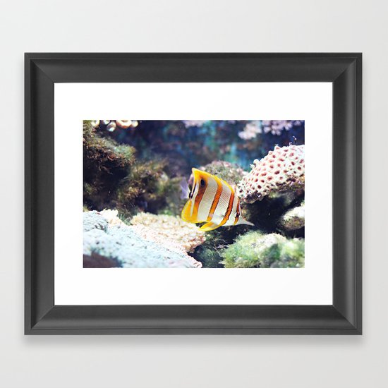 The sea, source of all life Framed Art Print