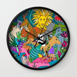 Animal Kingdom Wall Clock