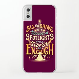 Never Enough Clear iPhone Case