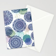 Fall Love Mandala in Blue Stationery Cards