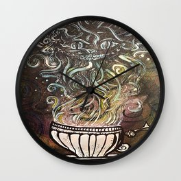 Chesire Coffee Wall Clock
