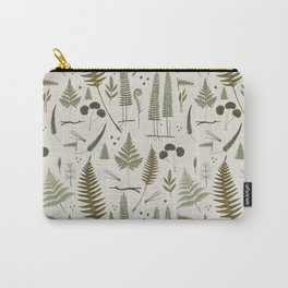 fern pattern white Carry-All Pouch