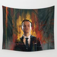 moriarty Wall Tapestries featuring J.Moriarty by Wisesnail