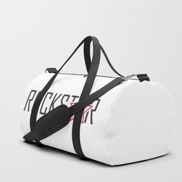 Rockstar with a guitar and typography Duffle Bag
