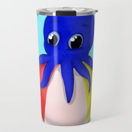 Octobaby on Beachball Travel Mug