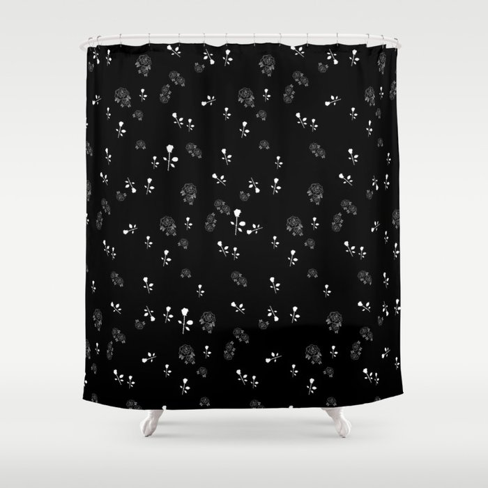 Rose Colored Boy Shower Curtain