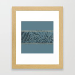 Blueprint  Feather and Gold 2 Framed Art Print