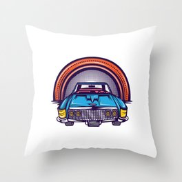 Are You A Vintage Person? Car Lover? Here's A Detailed Design Of  Muscle Car T-shirt Design Throw Pillow