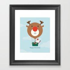 Day 13/25 Advent - Air Rudolph Framed Art Print