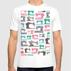 Sewing Machines Mens Fitted Tee MEDIUM White