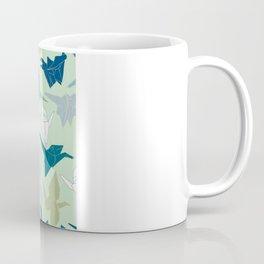 Paper Cranes- Green Coffee Mug