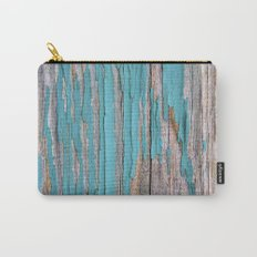 Rustic turquoise weathered wood shabby style Carry-All Pouch