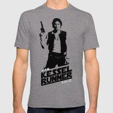 Han Solo-Kessel Runner MEDIUM Mens Fitted Tee Tri-Grey