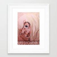 dangan ronpa Framed Art Prints featuring Super Dangan Ronpa 2 by schmemy