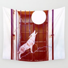 Talking to the Moon Wall Tapestry