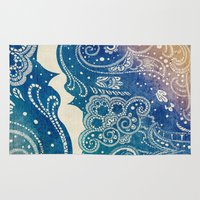 princess Area & Throw Rugs featuring Mermaid Princess  by rskinner1122