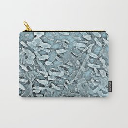 Ocean Tips Silver Blue Abstract Carry-All Pouch