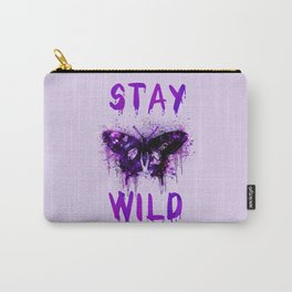 Stay Wild Butterfly Carry-All Pouch