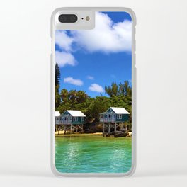 House on Stilts in Bermuda Clear iPhone Case