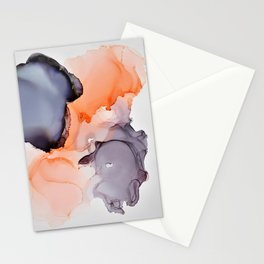 Salmon & Black Ink Stationery Cards