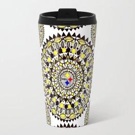Football Themed Mandala Textile Travel Mug