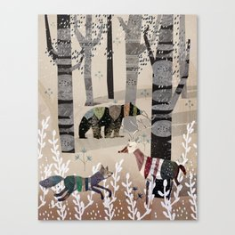 Forest in Sweater Canvas Print