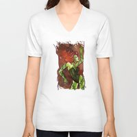 poison ivy V-neck T-shirts featuring Poison Ivy  by Sako Tumi