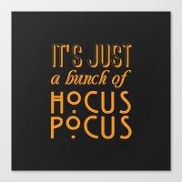 hocus pocus Canvas Prints featuring Hocus Pocus by Pink Fox Designs