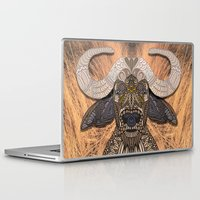african Laptop & iPad Skins featuring African Buffalo by ArtLovePassion
