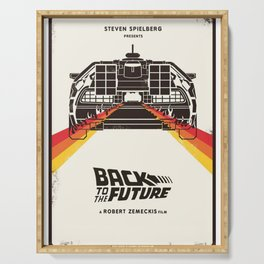 Back to The Future Serving Tray