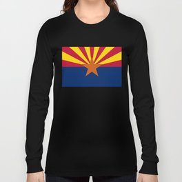 Arizona State flag, Authentic version - color and scale Long Sleeve T-shirt