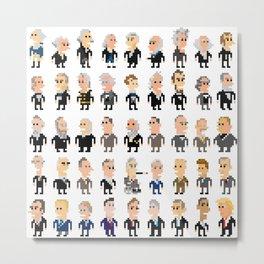 45 Presidents of the U.S.A. Metal Print