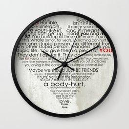 I hate love Wall Clock