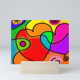 Love Heart Abstract Mini Art Print