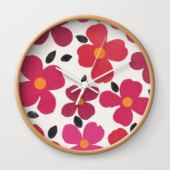 dogwood 4 Wall Clock