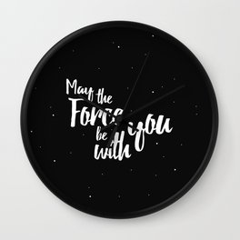May the force be with you (two) Wall Clock