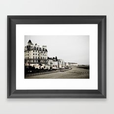 Old sea front Framed Art Print