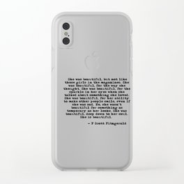She was beautiful - Fitzgerald quote Clear iPhone Case