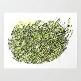 most gushrooms Art Print