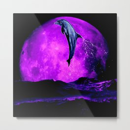 moonstruck dolphin - magician of seas Metal Print