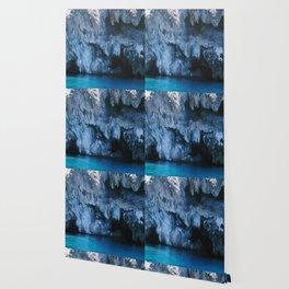 NATURE'S WONDER #3 - BLUE GROTTO #art #society6 Wallpaper