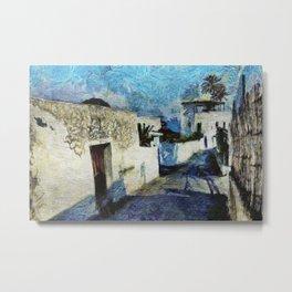 Street of Stromboli Aeolian Island Metal Print