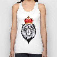 the lion king Tank Tops featuring Lion King by Libby Watkins Illustration
