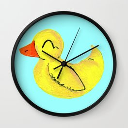 Happy Ducky Wall Clock