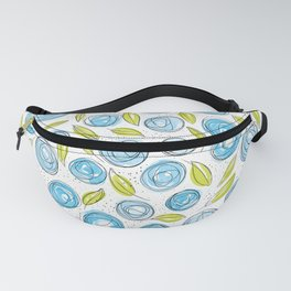 Floral Pattern #13 | Green and Blue Fanny Pack