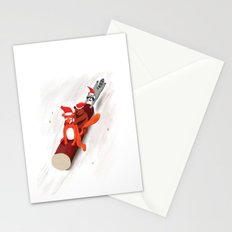 Christmas fox, bear and raccoon Stationery Cards