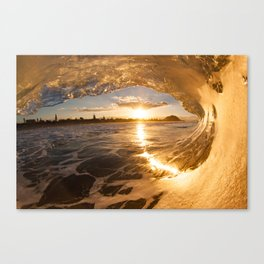 Golden Tube Canvas Print
