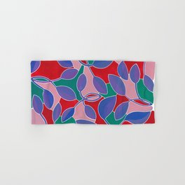 Purple Leaf Block Color Hand & Bath Towel